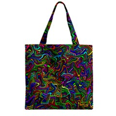 Artwork By Patrick Colorful 9 Zipper Grocery Tote Bag by ArtworkByPatrick