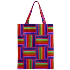 Artwork By Patrick Squares Zipper Classic Tote Bag by ArtworkByPatrick