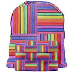 Artwork By Patrick-squares Giant Full Print Backpack