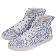 Radial Mandala Ornate Pattern Men s Hi-top Skate Sneakers by dflcprints