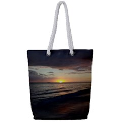 Sunset On Rincon Puerto Rico Full Print Rope Handle Tote (small) by StarvingArtisan