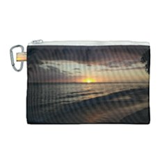 Sunset On Rincon Puerto Rico Canvas Cosmetic Bag (large) by StarvingArtisan