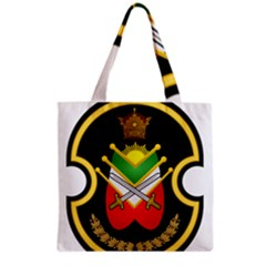 Shield Of The Imperial Iranian Ground Force Grocery Tote Bag by abbeyz71