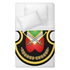 Shield Of The Imperial Iranian Ground Force Duvet Cover (single Size) by abbeyz71