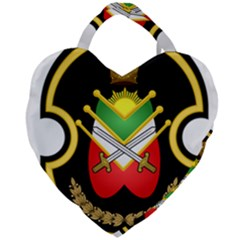 Shield Of The Imperial Iranian Ground Force Giant Heart Shaped Tote