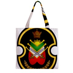 Shield Of The Imperial Iranian Ground Force Zipper Grocery Tote Bag by abbeyz71