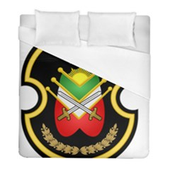 Shield Of The Imperial Iranian Ground Force Duvet Cover (full/ Double Size) by abbeyz71