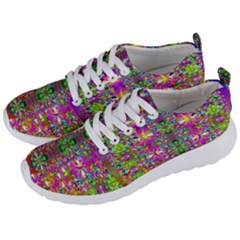 Flower Wall With Wonderful Colors And Bloom Men s Lightweight Sports Shoes by pepitasart