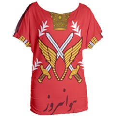 Seal Of The Imperial Iranian Army Aviation  Women s Oversized Tee by abbeyz71
