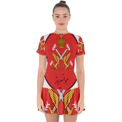 Seal Of The Imperial Iranian Army Aviation  Drop Hem Mini Chiffon Dress by abbeyz71