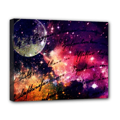 Letter From Outer Space Deluxe Canvas 20  X 16   by augustinet