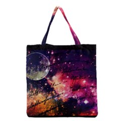 Letter From Outer Space Grocery Tote Bag by augustinet