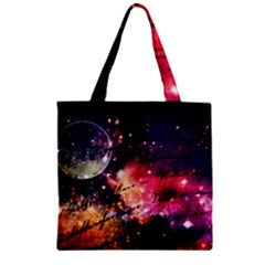 Letter From Outer Space Zipper Grocery Tote Bag by augustinet