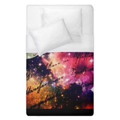 Letter From Outer Space Duvet Cover (single Size) by augustinet