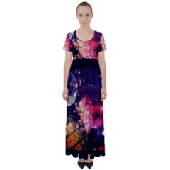 Letter From Outer Space High Waist Short Sleeve Maxi Dress by augustinet