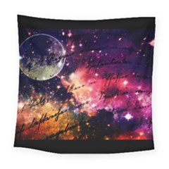 Letter From Outer Space Square Tapestry (large) by augustinet