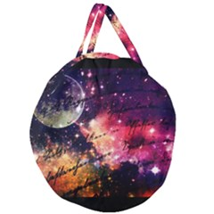Letter From Outer Space Giant Round Zipper Tote by augustinet