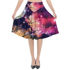 Letter From Outer Space Flared Midi Skirt