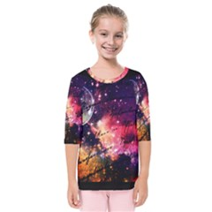 Letter From Outer Space Kids  Quarter Sleeve Raglan Tee