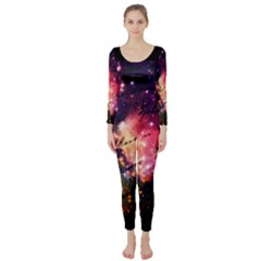 Letter From Outer Space Long Sleeve Catsuit by augustinet