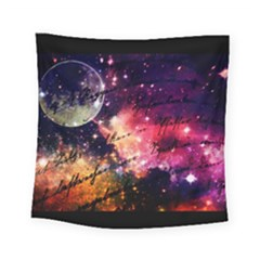 Letter From Outer Space Square Tapestry (small) by augustinet