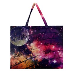 Letter From Outer Space Zipper Large Tote Bag by augustinet