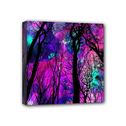 Magic Forest Mini Canvas 4  X 4  by augustinet
