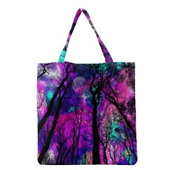 Magic Forest Grocery Tote Bag by augustinet
