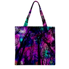 Magic Forest Zipper Grocery Tote Bag by augustinet