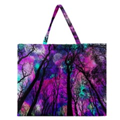 Magic Forest Zipper Large Tote Bag by augustinet