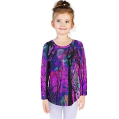 Magic Forest Kids  Long Sleeve Tee by augustinet