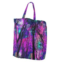 Magic Forest Giant Grocery Zipper Tote by augustinet