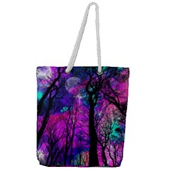 Magic Forest Full Print Rope Handle Tote (large) by augustinet