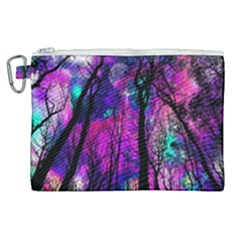 Magic Forest Canvas Cosmetic Bag (xl) by augustinet