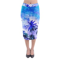 Summer Night Dream Midi Pencil Skirt by augustinet