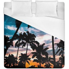 Palm Trees Summer Dream Duvet Cover (king Size) by augustinet