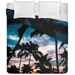 Palm Trees Summer Dream Duvet Cover Double Side (california King Size) by augustinet