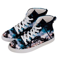 Palm Trees Summer Dream Women s Hi Top Skate Sneakers by augustinet