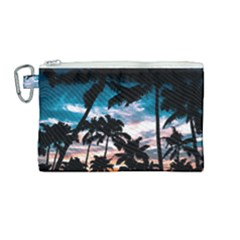 Palm Trees Summer Dream Canvas Cosmetic Bag (medium) by augustinet