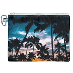 Palm Trees Summer Dream Canvas Cosmetic Bag (xxl) by augustinet