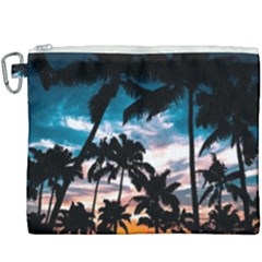 Palm Trees Summer Dream Canvas Cosmetic Bag (xxxl) by augustinet