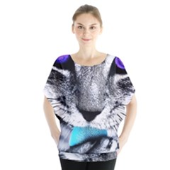 Purple Eyes Cat Blouse by augustinet