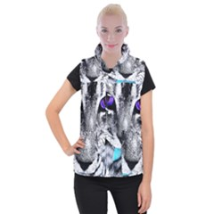 Purple Eyes Cat Women s Button Up Vest by augustinet
