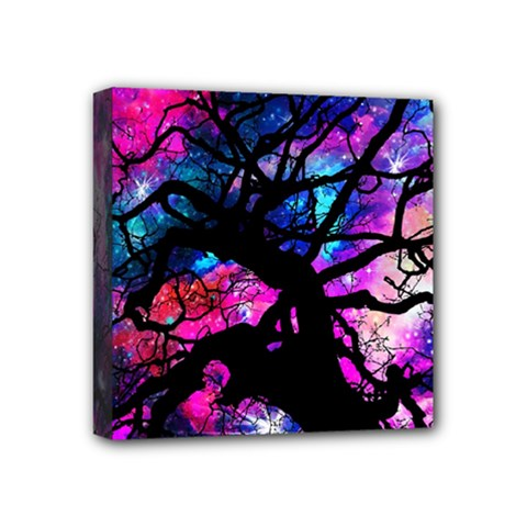 Star Field Tree Mini Canvas 4  X 4  by augustinet