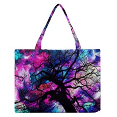 Star Field Tree Zipper Medium Tote Bag