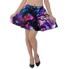 Star Field Tree Velvet Skater Skirt by augustinet