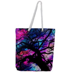 Star Field Tree Full Print Rope Handle Tote (large) by augustinet