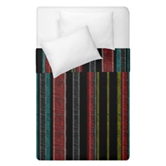 Multicolored Dark Stripes Pattern Duvet Cover Double Side (single Size) by dflcprints