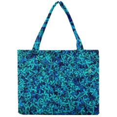 Teal Leafs Mini Tote Bag by augustinet