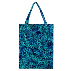 Teal Leafs Classic Tote Bag by augustinet